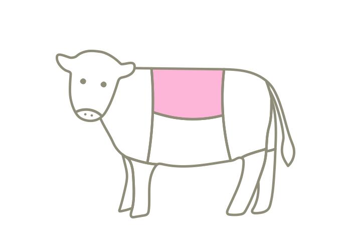 牧草牛のロイン