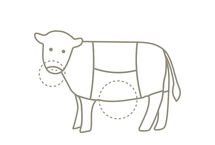 牧草牛のオファール(内臓)