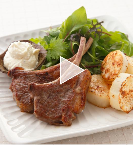 【レシピ動画】ラムチョップと長いものステーキ