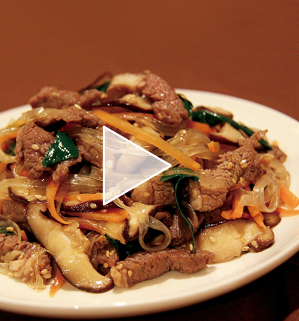 【レシピ動画】ラム肉のチャプチェ