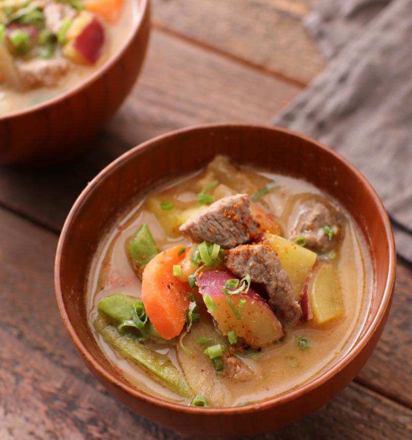 【レシピ動画】ラムの具だくさんMISOスープ