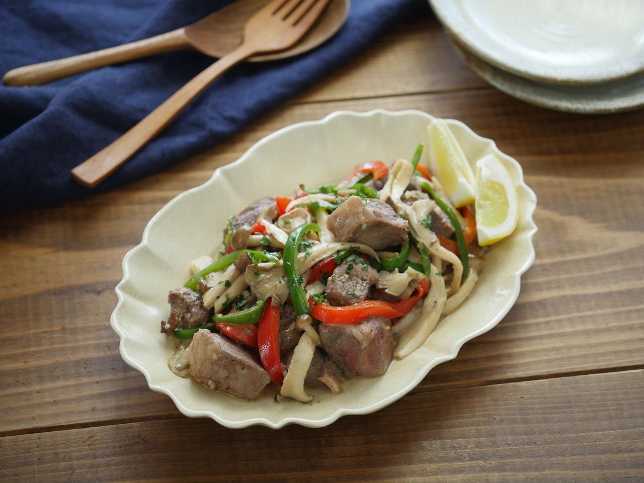 【レシピ動画】ラムもも肉といろいろきのこのホットサラダ